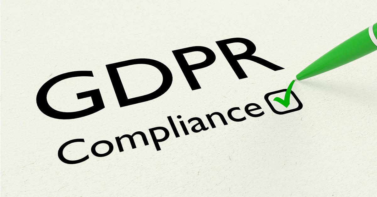 GDPR Compliance sjekket ut på et ark