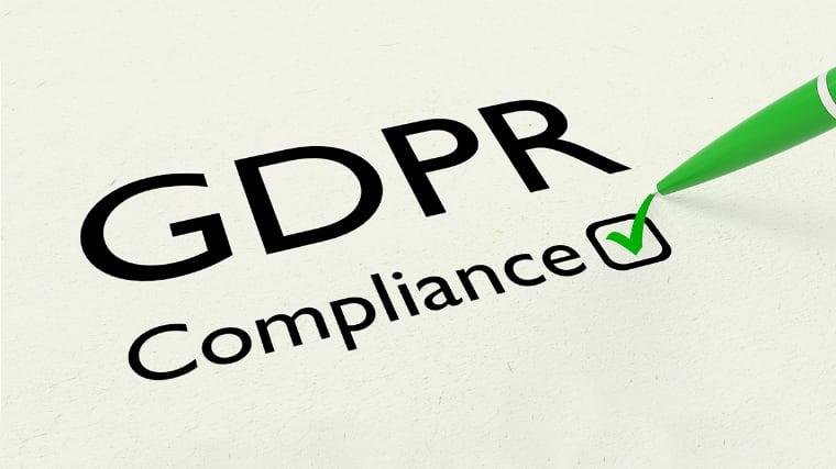 GDPR compliance avkrysset på papir